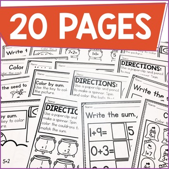 Addition Within 10 Practice Work Pages OCTOBER EDITION
