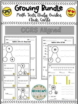 Addition and Subtraction Within 10 Study Guides + Tests