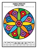 Addition Within 100 Color By Number