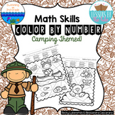 Addition Within 100 Color By Number Activities {Camping}