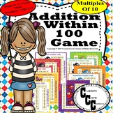 Addition Within 100 Board Game (Adding With Multiples of 10)