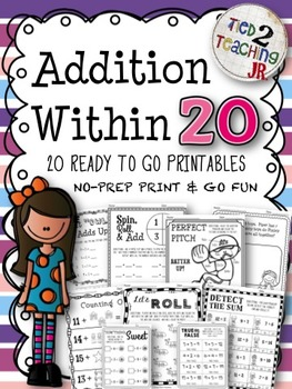Addition Within 20 (20 No-Prep Printables for the Early Grades)