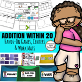 Addition Within 20- Addition Fluency Games (War, Memory, R