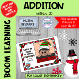 Addition Within 20 Boom Learning℠ | Christmas Elf