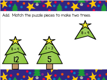 Addition Within 20 Christmas Tree Puzzles With Moveable Pieces Use With Google™