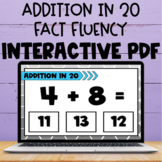 Addition In 20 Fact Interactive PDF & Boom Cards- Perfect