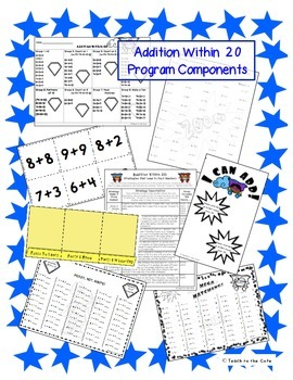 2nd Grade Addition Within 20 Fluency Program - Master the Math Facts 2.OA.2