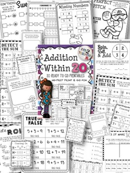 Addition Within 20 Printables Bundle