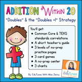 "Addition Within 20: ""Doubles & Doubles +1"" Strategy Worksheets and Games"