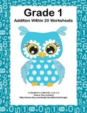 Addition Within 20- Worksheets-CCSS.MATH.CONTENT.1.OA.C.6-Owl Theme
