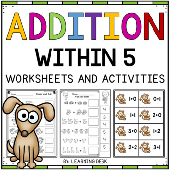 Addition Within 5 Worksheets