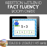 Addition Within Ten Fact Fluency - Boom Cards