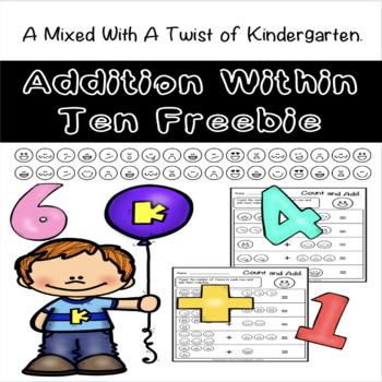 Addition Within Ten Freebie