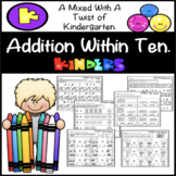 Addition Within Ten Worksheets | Kindergarten!