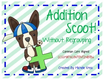 Addition Without Regrouping Scoot!