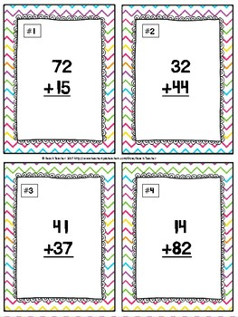 Easter Themed Addition Without Regrouping Task Cards & Game 2.NBT.5