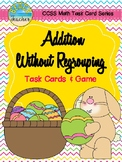 Easter Themed Addition Without Regrouping Task Cards & Game