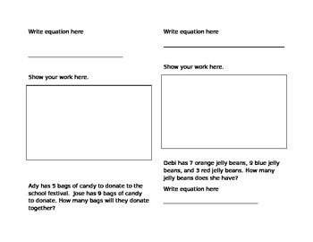 Addition Word Problem Booklet