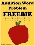 FREE DOWNLOAD : Addition Word Problem FREEBIE