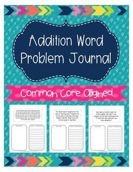 Addition Word Problem Journal