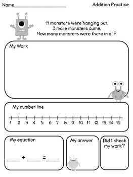 Addition Word Problem Pack 2