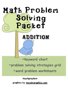Addition Word Problem Packet