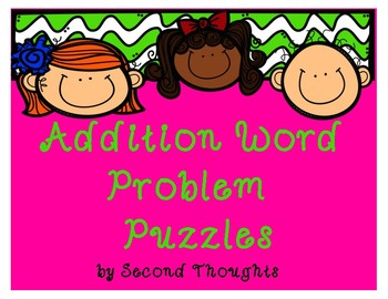 Addition Word Problem Puzzles