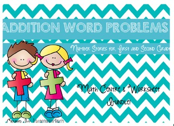 Addition Word Problem Puzzles and Worksheet Bundle!