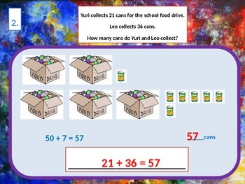 Addition Word Problem, Solving by Drawing and Modeling for Visual Learners