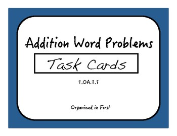 Addition Word Problem Task Cards