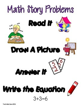 Addition Word Problem to 10 *Back to School* Read, Draw & Answer It!