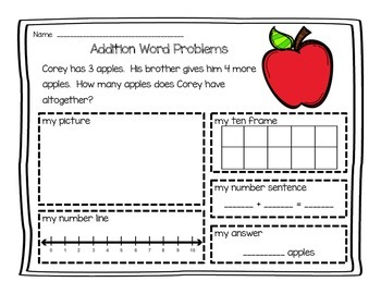 Addition Word Problems (0-10)