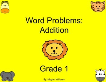 Addition Word Problems - 1st grade