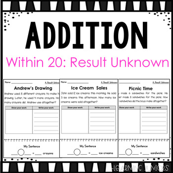 Addition Word Problems within 20