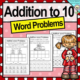 Addition Word Problems, Addition to Ten, Adding to 10, Worksheets, Printables