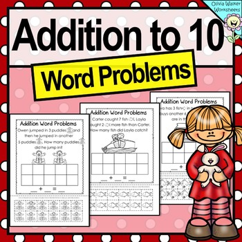 Addition Word Problems, Addition to Ten, Adding to 10, Wor