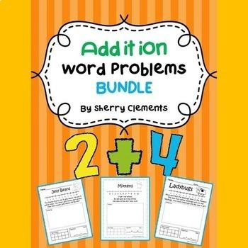 Addition Word Problems Bundle (K-2)