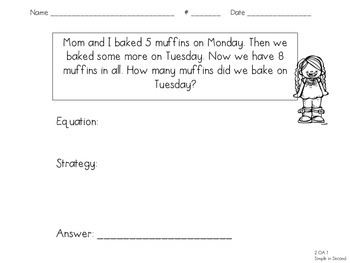 Addition Word Problems - Change Unknown (2.OA.1)