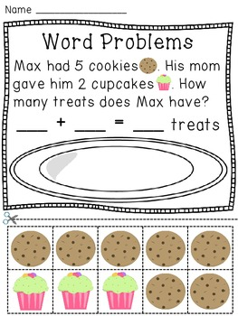 Addition Word Problems Hands On Activity Worksheets