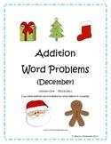 December Addition Word Problems