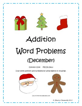 December Addition Word Problems