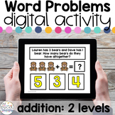Addition Word Problems - Digital Activity for Special Education