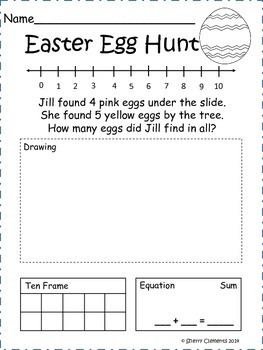 Easter Addition Word Problems
