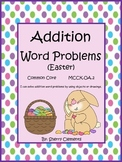 Easter Addition Word Problems Distance Learning