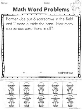 Addition Word Problems - Fall Edition