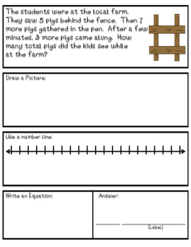 Addition Word Problems - Fall Theme