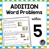 Kindergarten Word Problems: Addition to Five {Ideal for RtI}