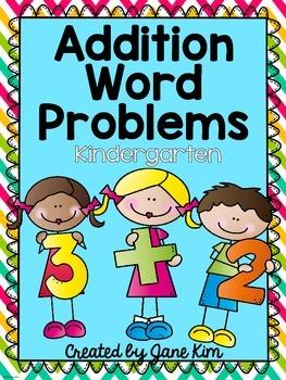 Addition Word Problems For Kindergarten