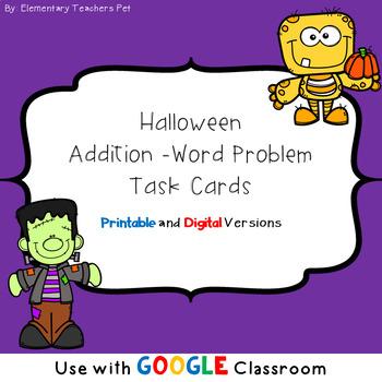 Addition Word Problems- Halloween Theme