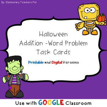 Addition Word Problems- Halloween Theme